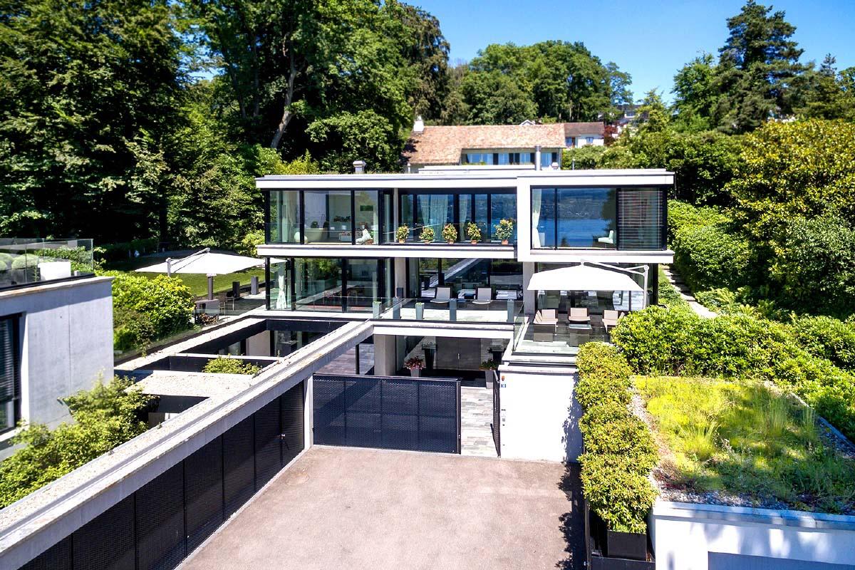 Aussergew hnliche architekten villa mit seesicht 8700 kuesnacht der bekannte architekt theo - Bekannte architekten ...